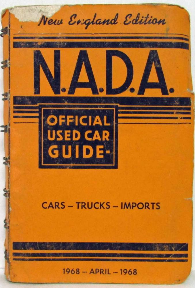 1968 NADA Official Used Car Price Guide - New England Edition