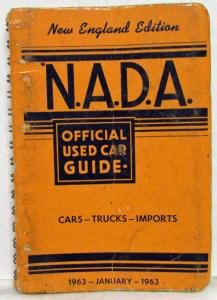 1963 NADA Official Used Car Price Guide - New England Edition