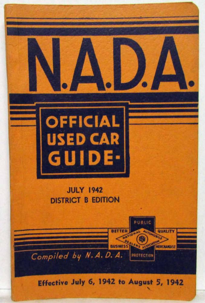 1942 NADA Official Used Car Price Guide - July - Ford Dodge Studebaker