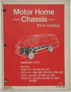 1969-1977 Dodge Motor Home Chassis Illustrated Parts Catalog