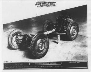 1942 Chevrolet US Army 1/4 Ton Jeep Truck Chassis Prototype Press Photo 0179