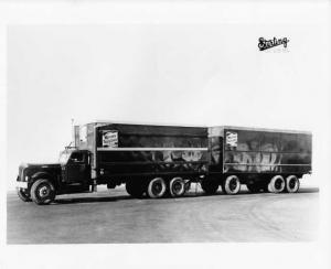 1940s Sterling Western Truck Lines Box Truck & Trailer Press Photo 0016