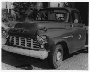 1950s Chevrolet 3100 Telephone Company Wrecked Truck Press Photo 0184