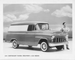1955 Chevrolet 3100 Series Panel Delivery Truck Press Photo & Release 0193