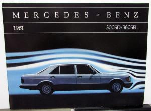 1981 Mercedes Benz Dealer Sales Brochure Large 300SD & 380SEL Models
