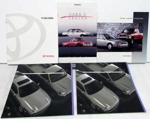 1988-1994 Toyota Cars & Trucks Dealer Sales Brochures Collection Set Of 5