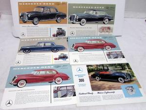 Vintage Mercedes Benz Sales Brochure Pages Collection Type 300 219 220S