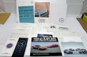 Mercedes Benz Sales Literature Collection Large Set Brochure Data Sheets Folders