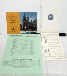 1979 Mercedes Benz Sales Literature Collection European Delivery Full Line