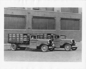 1933 Studebaker Stake Truck Press Photo 0072 Ivy Beer Distributors Loewers Lager
