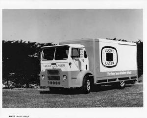 1960s White Compact Box Truck Press Photo 0025 - Luck Lager Beer