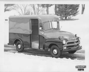 1954 Chevrolet Delivery Truck 3100 with Boyertown Body Press Photo 0217