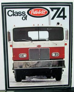 1974 Peterbilt Truck Dealer Sales Brochure Folder Semi Tractors Models 200 300