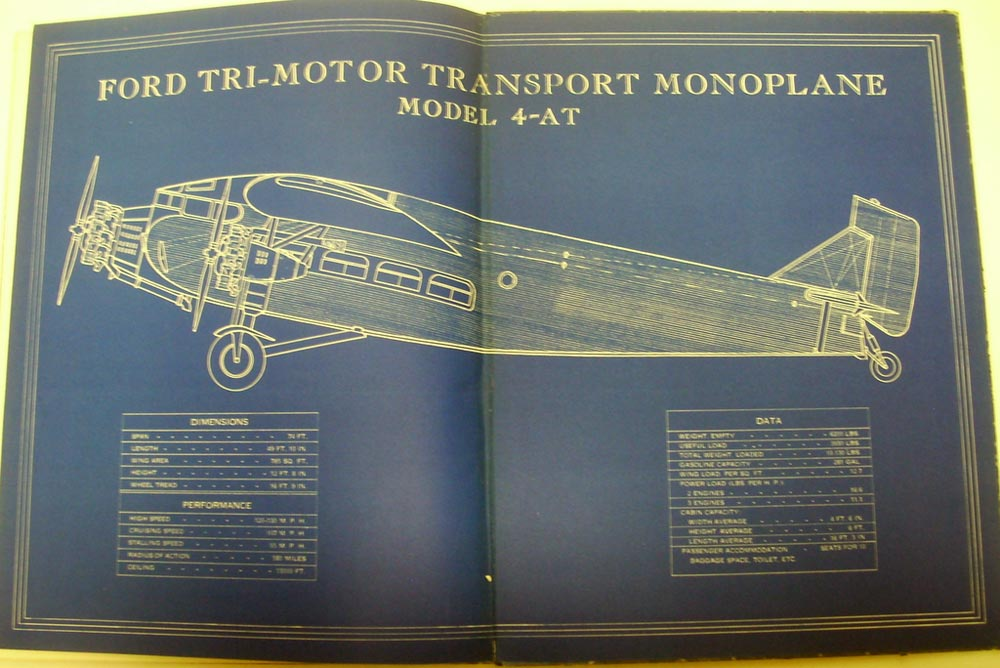 1929 Lift Up Your Eyes Ford Tri Motor Model 4-AT Mono Plane Book With Ads RARE