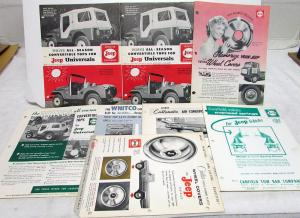 Early 1960s Jeep Aftermarket Accessories Sheets Universal Gladiator Wagoneer
