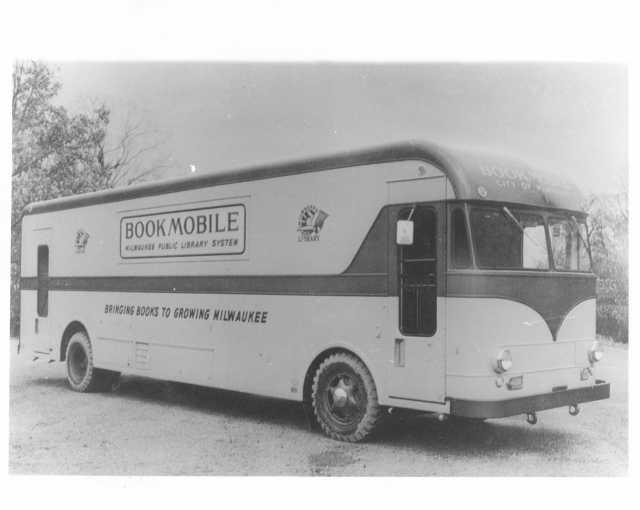 1955 Available Truck Gerstenslager Body Press Photo 0007 MKE Library Bookmobile
