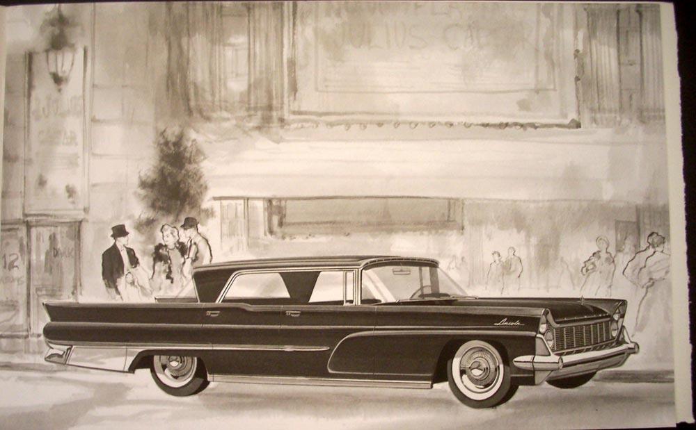 1959 Lincoln And Continental Mark Iv Sales Brochure Original