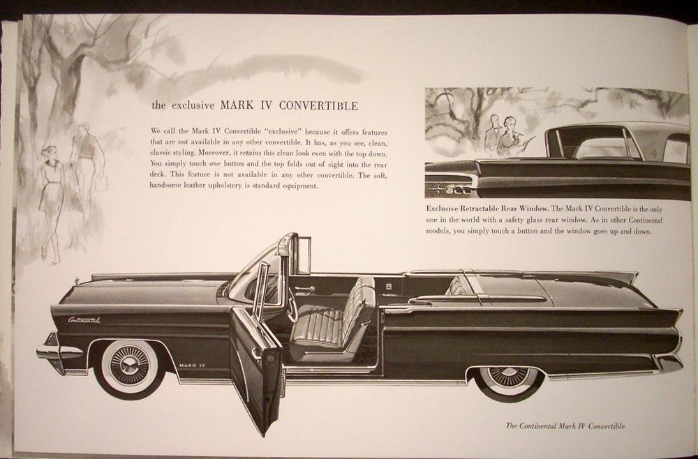 Lincoln Limousine Price >> 1959 Lincoln and Continental Mark IV Sales Brochure ORIGINAL