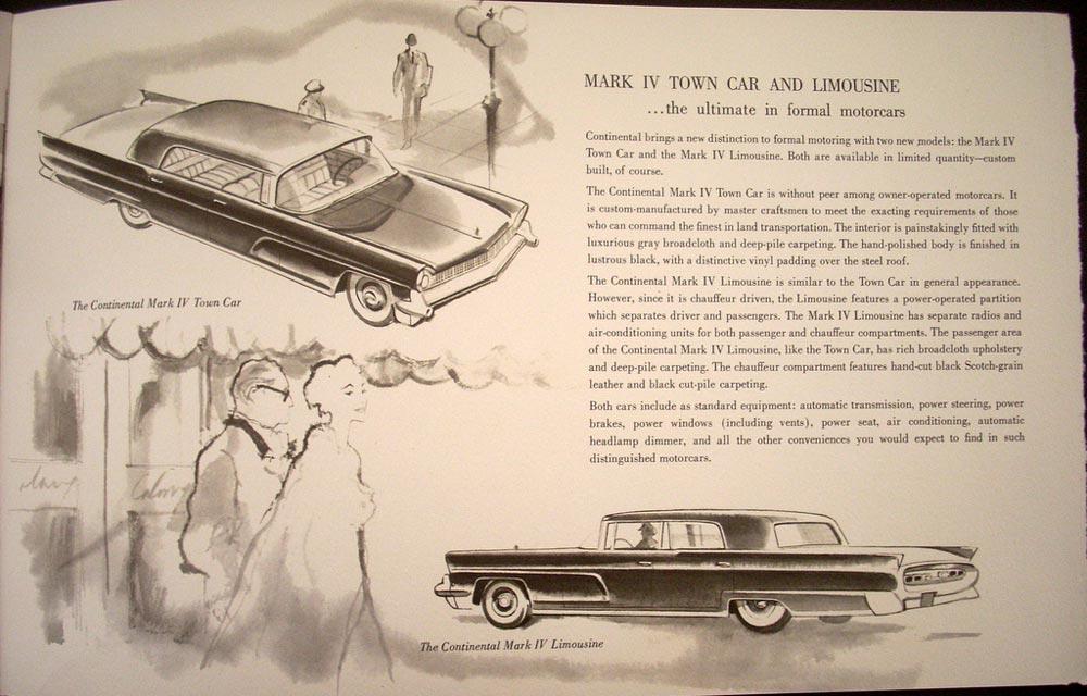 1959 lincoln and continental mark iv sales brochure original. Black Bedroom Furniture Sets. Home Design Ideas