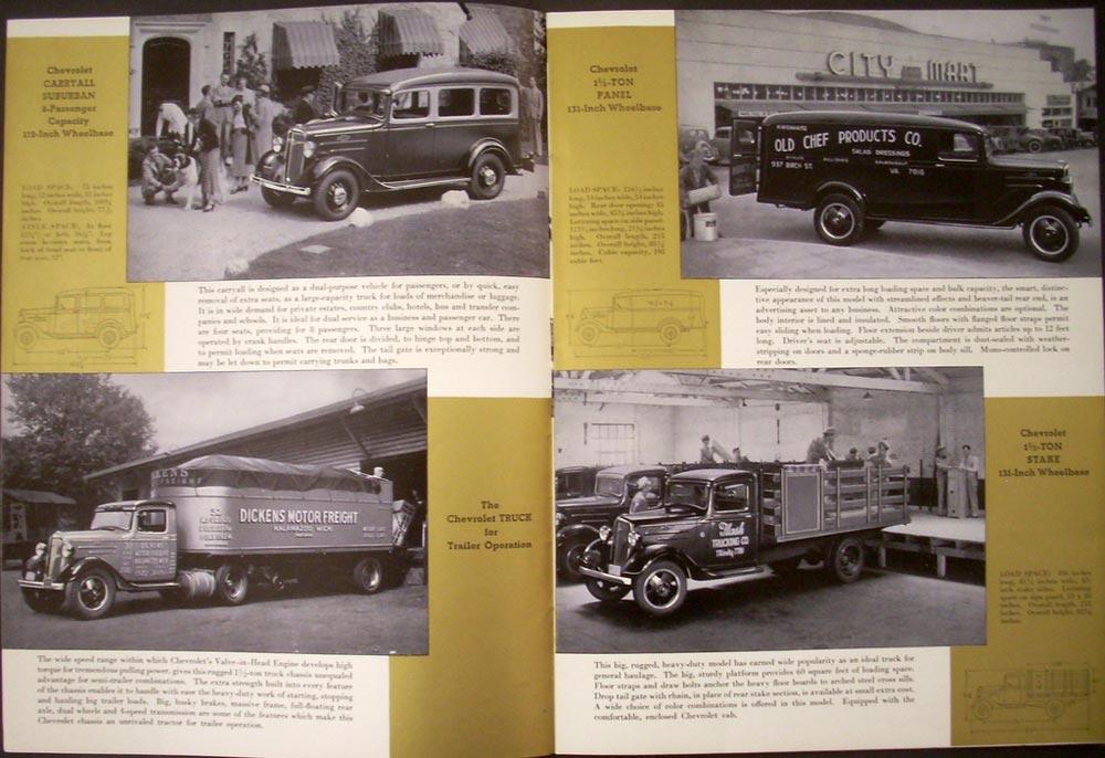 1936 Chevrolet Truck Sale Brochure ORIGINAL Half Ton and 1 1