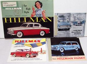 1960 Hillman Automobiles Sales Brochure Collection Husky Minx Station Wagon