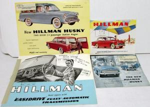 1960 Hillman Automobiles Sales Brochures Set Of 4 Husky Minx Easidrive Trans