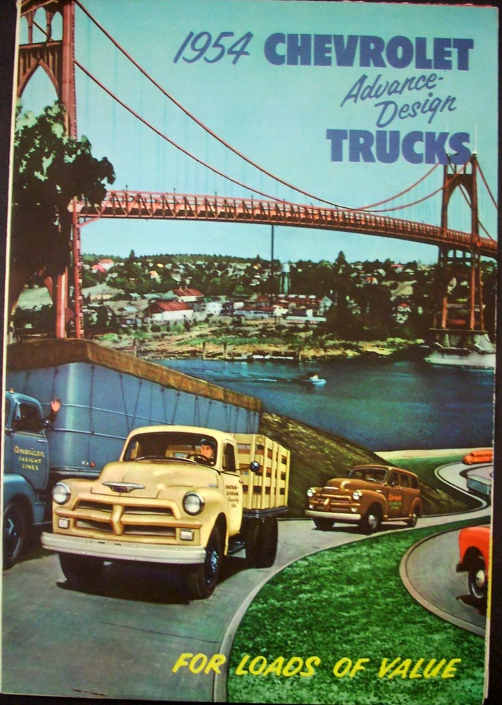 1954 Chevy Truck Sedan Delivery Suburban Pickup Stake Bus COE Sales Folder