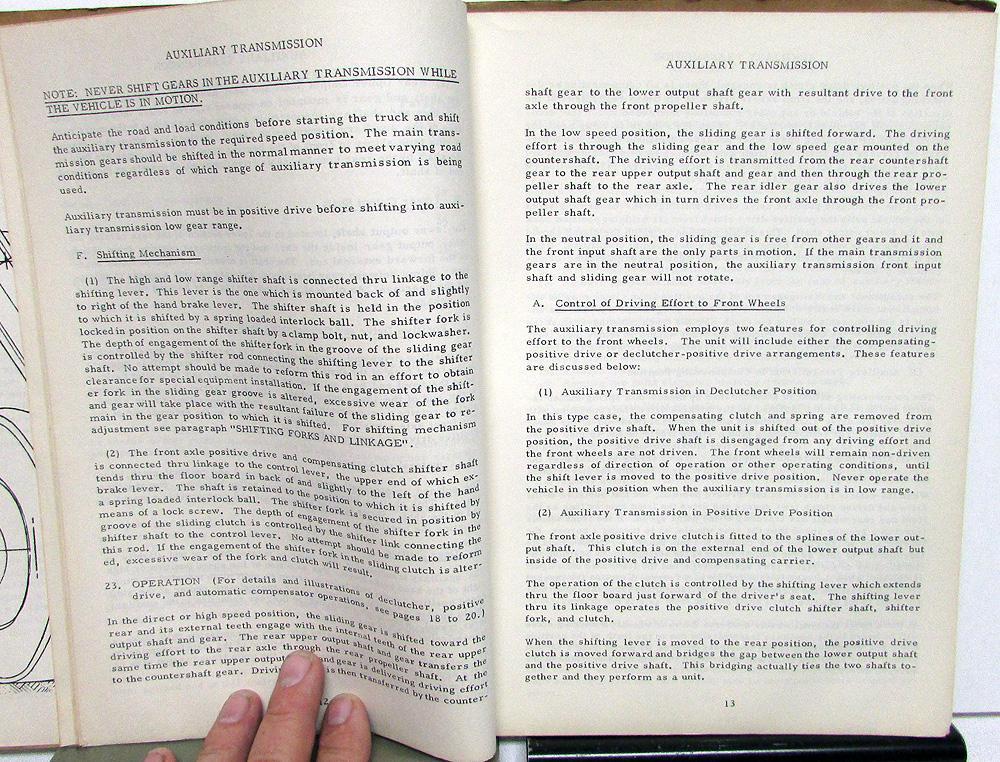 1953 1954 Marmon Herrington Service Manual & Parts List M904