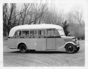 1937 Chevrolet-Flxible 21 Passenger City Coach Factory Press Photo 0255