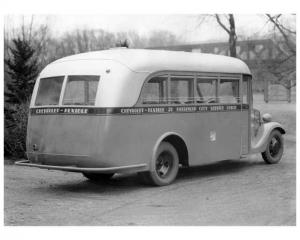 1935 Chevrolet-Flxible 21 Passenger City Coach Factory Press Photo 0256