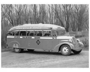 1937-1939 Flxible 20 Passenger Bus Coach Press Photo 0002 - Ader Coach Lines