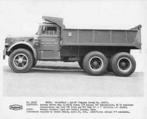 1954 Autocar DC-10064-S Dump Truck Press Photo 0020 - Kennedy Sand Gravel Loam