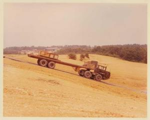 1970s FWD Military Tractor Trailer Down/Up Color Press Photo Set 0005 - US Army