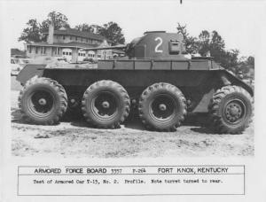 1940s REO T-13 Armored Car Test Press Photo 0011 - Armed Force Board Fort Knox