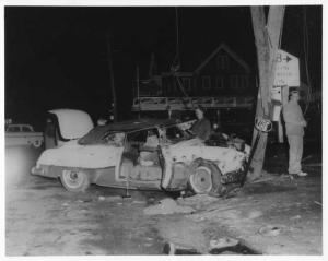 1951 Buick Roadmaster Convertible Traffic Crash Press Photo Lot 0125
