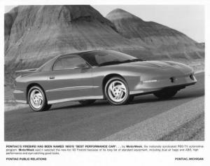 1993 Pontiac Firebird Best Performance Car Press Photo with Text 0080