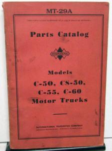 1934-1937 International IH Trucks Dealer Parts Catalog Book C50 C55 C60 CS50