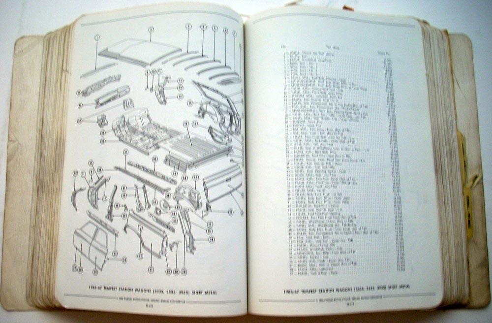 1968 Pontiac Parts Catalog Catalina Bonneville Tempest Grand