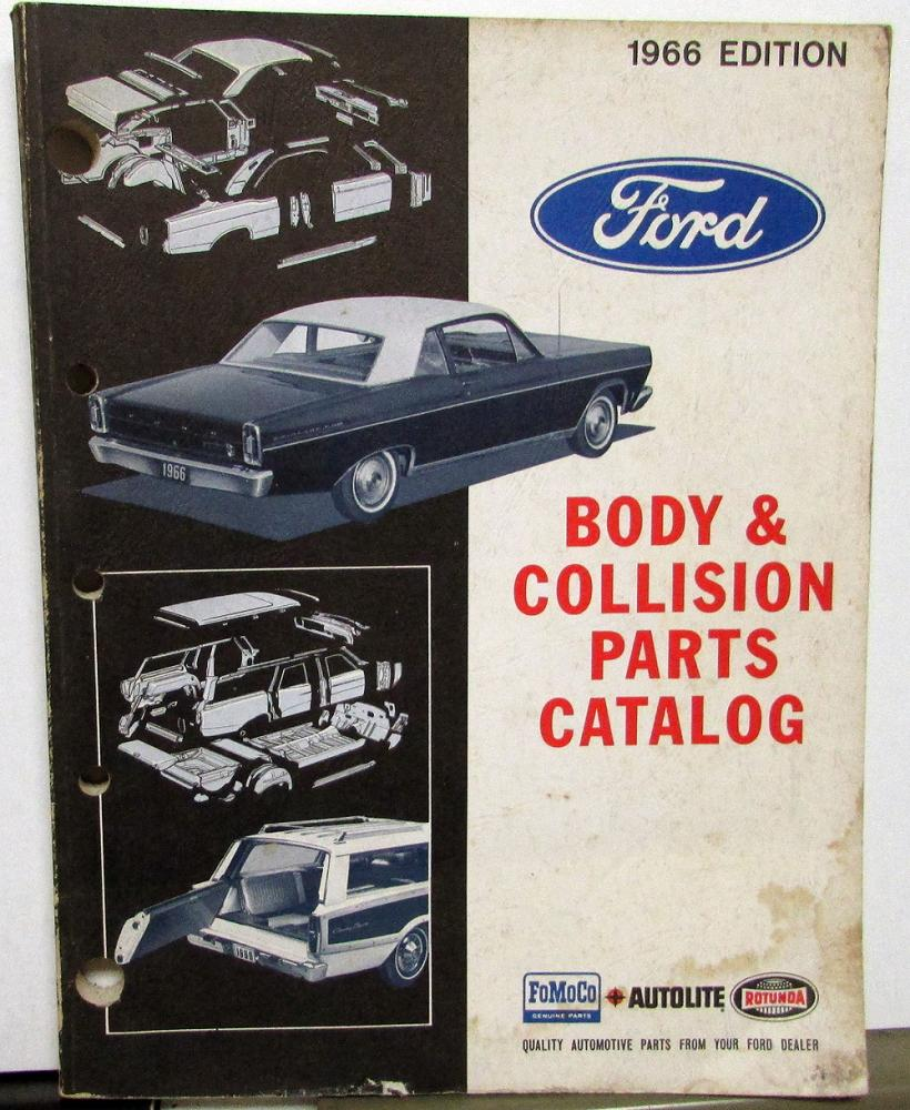 1963 1964 1965 1966 Ford Body Collision Parts Book T-Bird Mustang Truck  Bronco