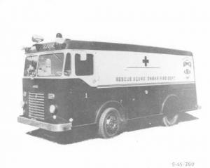 1955 Available Rescue Squad Omaha Fire Dept Truck Press Photo 0009