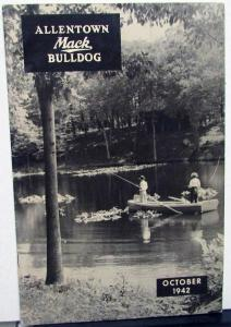 1942 Allentown Mack Bulldog Truck Factory Employee Newsletter Magazine October