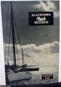 1942 Allentown Mack Bulldog Truck Factory Employee Newsletter Magazine August