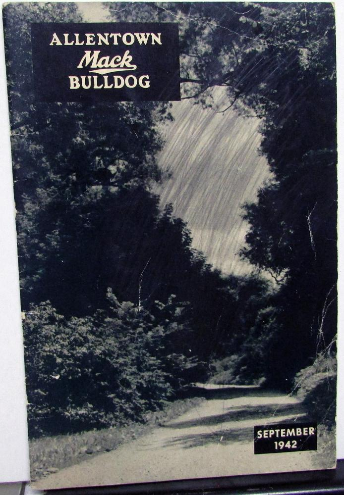 1942 Allentown Mack Bulldog Truck Factory Employee Newsletter Magazine September