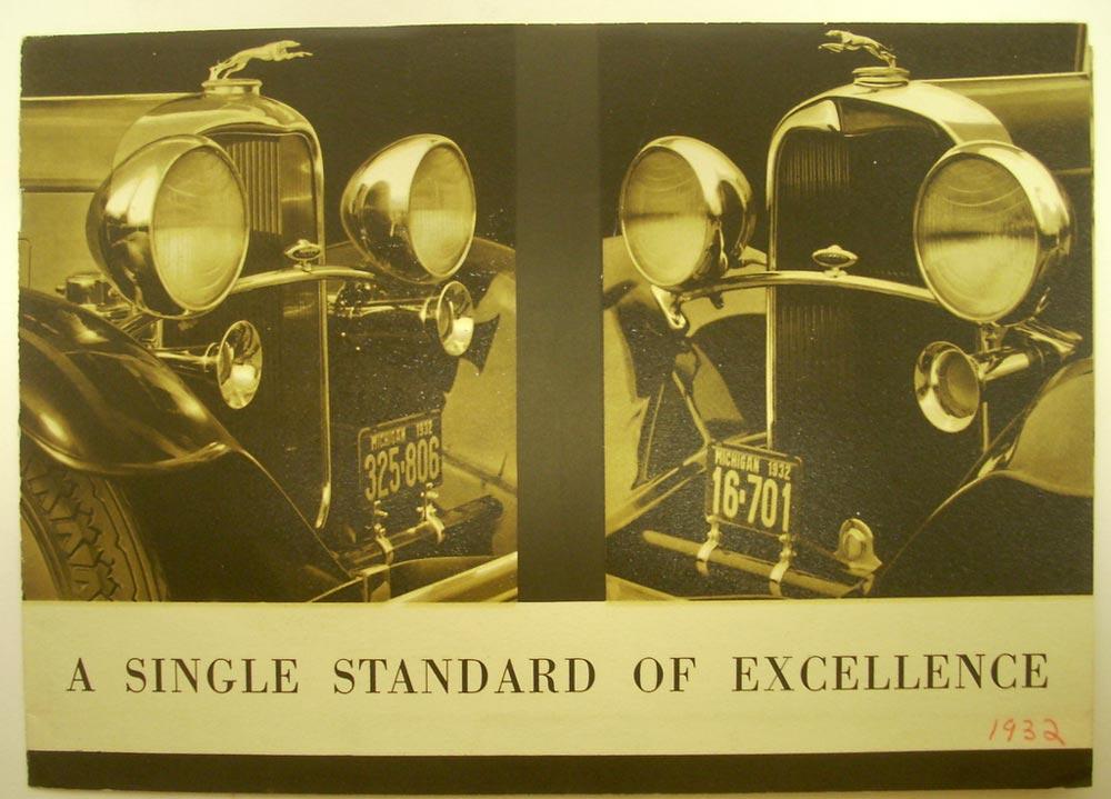 1932 Lincoln Standard of Excellence ORIGINAL Sales Leaflet Sedan ...