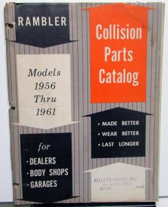 1956 1957 1958 1959 1960 1961 Rambler Collision Parts Catalog