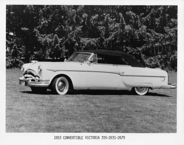 1953 Packard Victoria Convertible Press Photo 0024