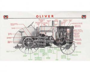 1932 Oliver Tractor Model 28-44 Diagram on Photo Paper 0001