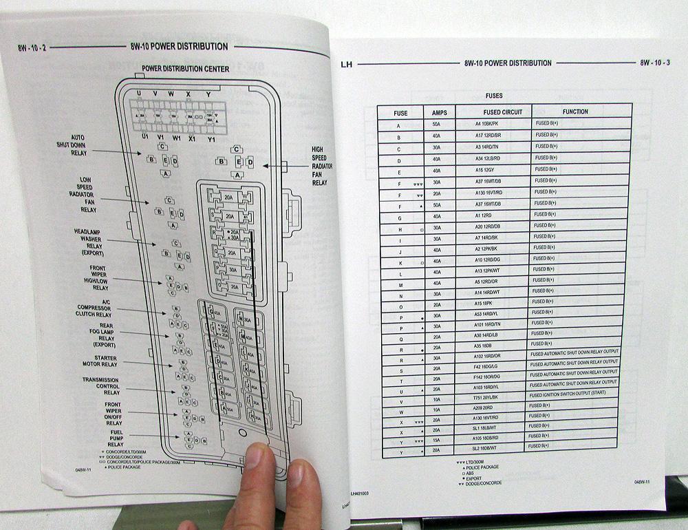 2004 chrysler concorde wiring diagram 2004 chrysler dodge 300m intrepid concorde electrical wiring  2004 chrysler dodge 300m intrepid