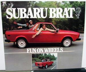 1978 Subaru Brat Dealer Sales Brochure Folder Features Options Original