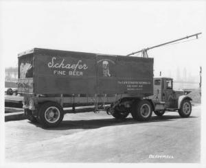 1934 Mack BX Tractor Trailer Truck Press Photo 0182 - Schaefer Fine Beer